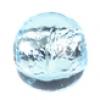 Glass Lamp Bead Round 8mm Light Aqua/Silver Lined